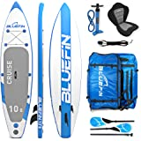 """Bluefin SUP Cruise Stand Up Inflatable Paddle Board with Kayak Conversion Kit, Ultimate iSUP Kayak Bundle (10'8"""", 12'0"""" and 15'0"""")"""