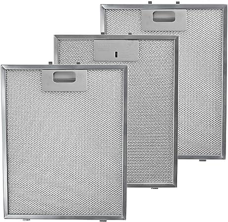 Spares2go - Filtro de grasa universal para campana extractora de cocina, rejilla de ventilación (paquete de 3 filtros, plata): Amazon.es: Hogar