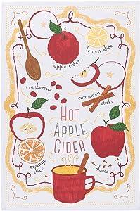 Now Designs 2177249 Cotton Kitchen Towel, Print, Hot Apple Cider
