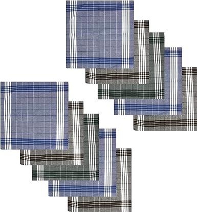 10x Verline Pañuelo Para Hombres Arabias 40 x 40 cm 100% Algodón ...