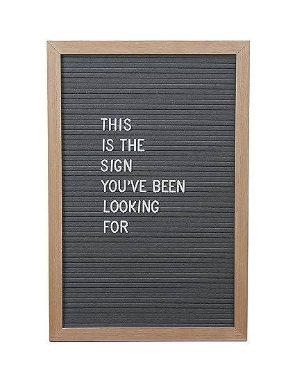 12 x 18 inch gray changeable big felt letter board set 510 letters emojis