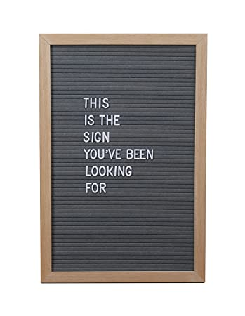 Amazon Com 12 X 18 Inch Gray Changeable Big Felt Letter Board Set