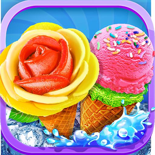 Unicorn Ice Cream Sundae - Ice Desserts (Mix Icy Colors)