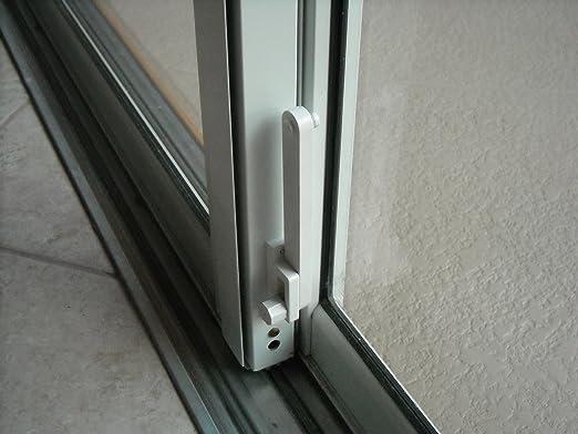 Deerfield Sliding Glass Door Deadbolt Lock Aluminum Frame White