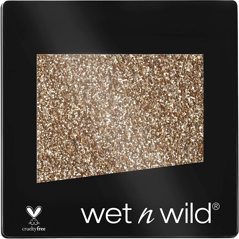 Wet n Wild Color Icon Glitter (Toasty) – Sombra de ojos Individual, Brillante, Larga Duración, Textura Suave - 1.5gr