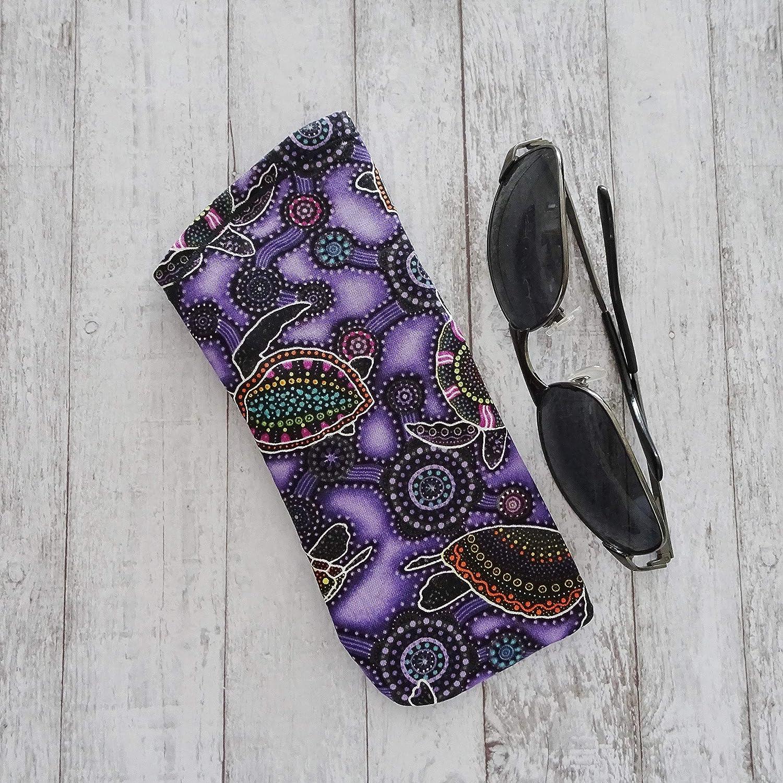 Sunglasses Case Aboriginal Sea Creatures Fabric Glasses Case Eyeglass Case