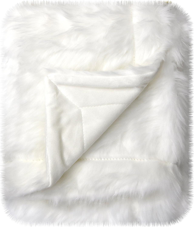 """Little Starter Blanket Mongolian Baby, White, 30"""" x 40"""""""