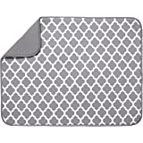 "S&T XL Microfiber Dish Drying Mat, 18"" x 24"", White Trellis"