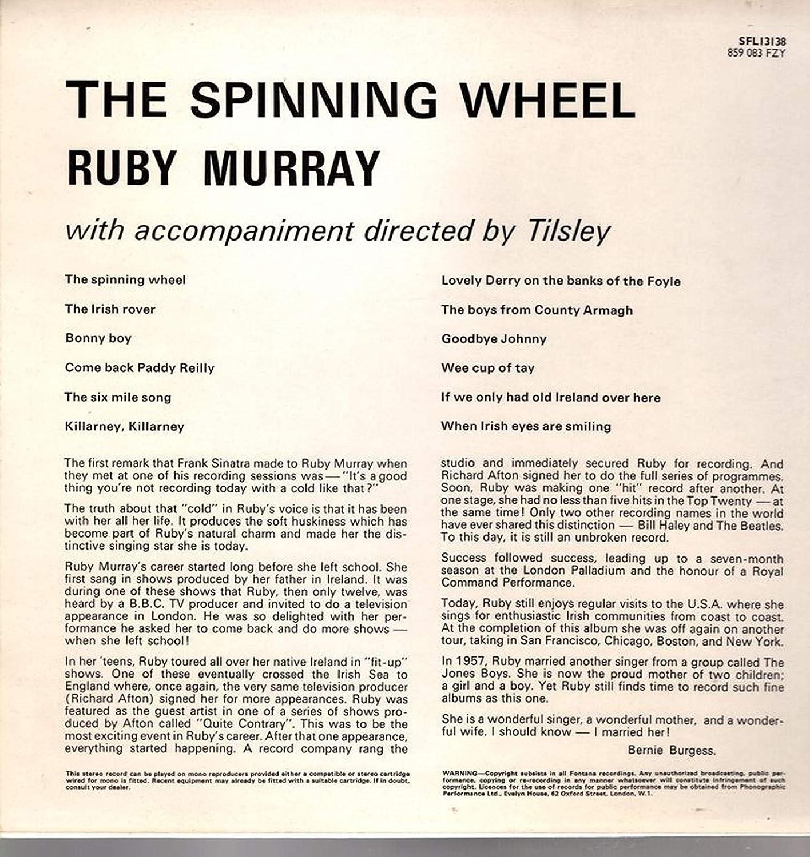 The Spinning Wheel: Ruby Murray: Amazon.es: Música