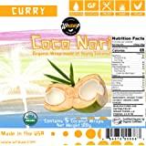 Organic Coconut Wraps, Coco Nori Curry (Raw, Vegan, Paleo, Gluten Free wraps) Made from young Thai Coconuts (5 Count)