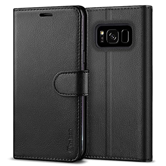 classic fit 0c001 6ed16 Vakoo Wallet Phone Case for Samsung Galaxy S8 Plus, Premium Flip Case and  PU Leather Cover for Samsung Galaxy S8+ / S8 Plus (6.2