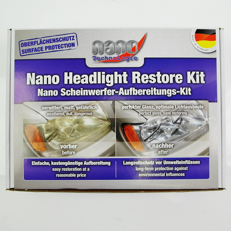 Pro Tec Nano Scheinwerfer Aufbereitungs Kit 21182 Auto