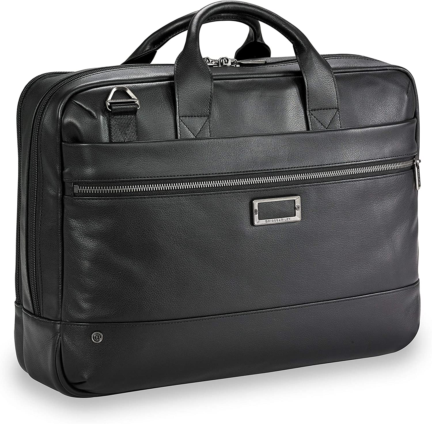 Briggs & Riley @ Work-Leather Brief, Black, Medium