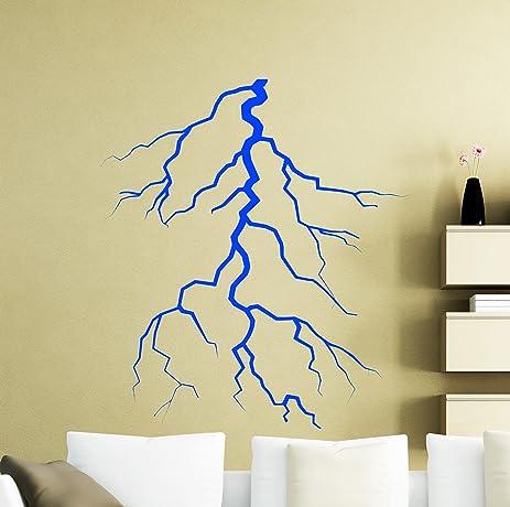 Lightning Strike Wall Decal Thunderbolt Thunder Bolt Flash Vinyl ...