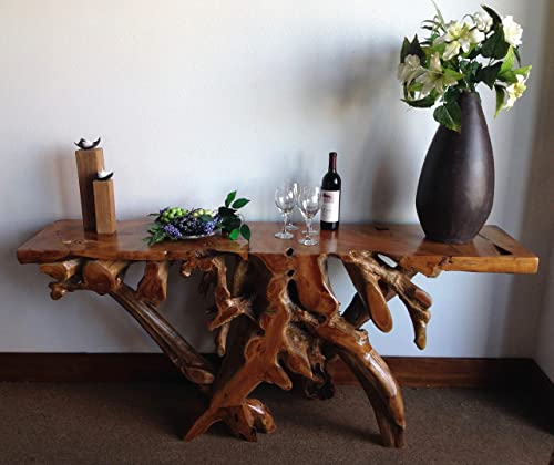 Teak Root Console Table by Chic Teak, 72 Inches Long, Made from Solid A-Grade Teak Wood