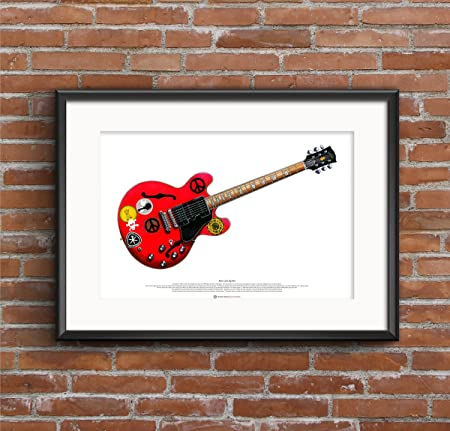 Francis Rossi/'s Fender Telecaster guitar ART POSTER A2 size