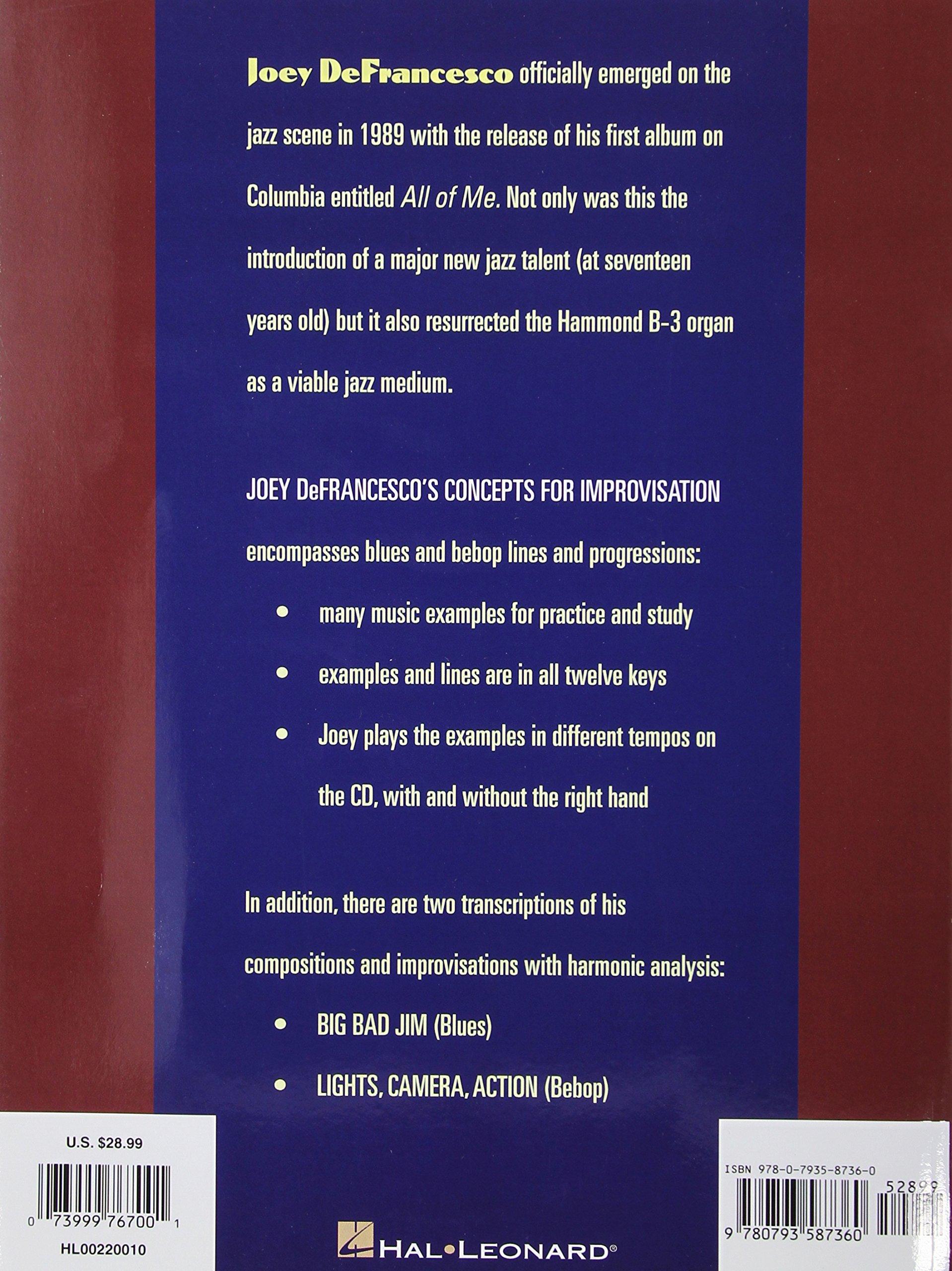 Joey defrancescos concepts for improvisation joey defrancesco joey defrancescos concepts for improvisation joey defrancesco 0073999767001 amazon books fandeluxe Gallery