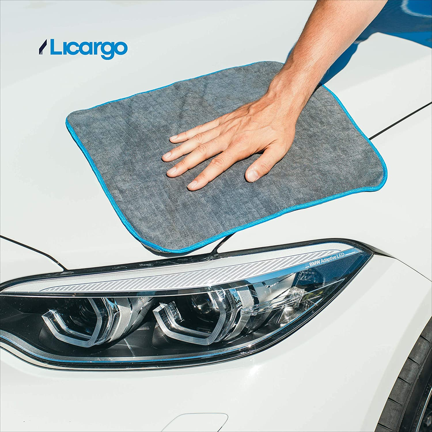 buffing super absorbent and soft car drying towel for cleaning 40x40cm Licargo/® microfibre cloths with 380 GSM for gentle car care detailing lint-free car cleaning cloths 6Pcs 15.7 x 15.7