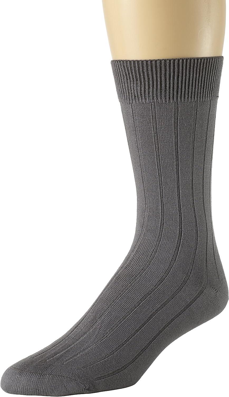 Sportoli Mens And Boys 3 Pack Super Soft Ribbed Knit Classic Cotton Bamboo Mid-Calf Crew Dress Socks