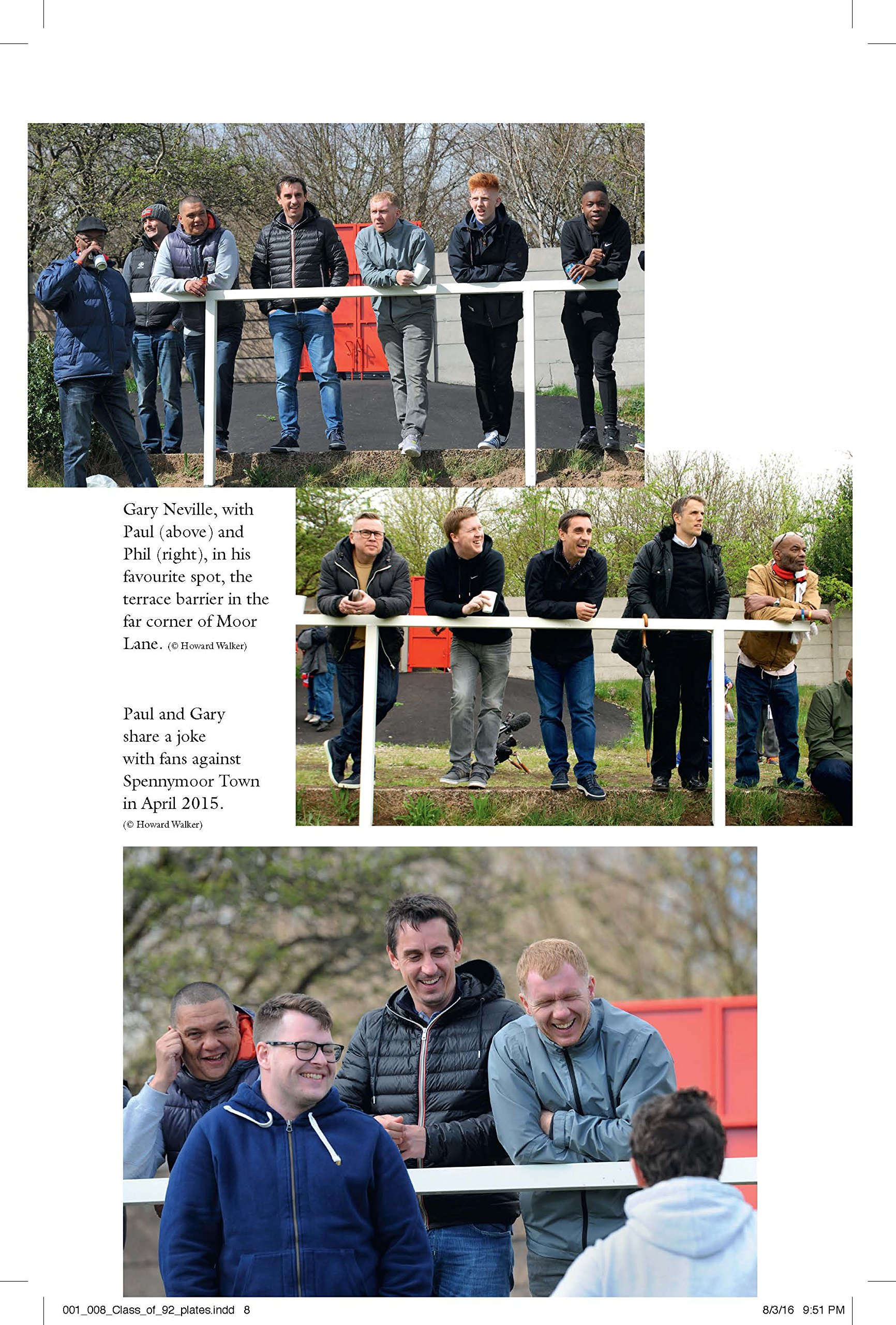 Fans taking pictures with cell phone behind barrier stock photo - Class Of 92 Out Of Our League Amazon Co Uk Gary Neville Phil Neville Paul Scholes Ryan Giggs Nicky Butt Robert Draper 9781785941795 Books