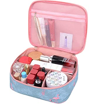 fd48dde7f0de Amazon.com   MKPCW Portable Travel Makeup Cosmetic Bags Organizer  Multifunction Case Toiletry Bags for Women   Beauty