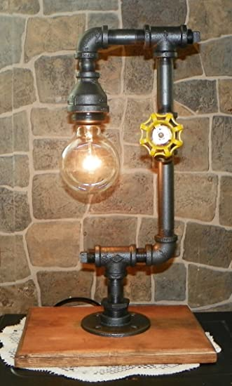 Mr Willies Steampunk Style Industrial Pipe Lamp, Retro, Handcrafted