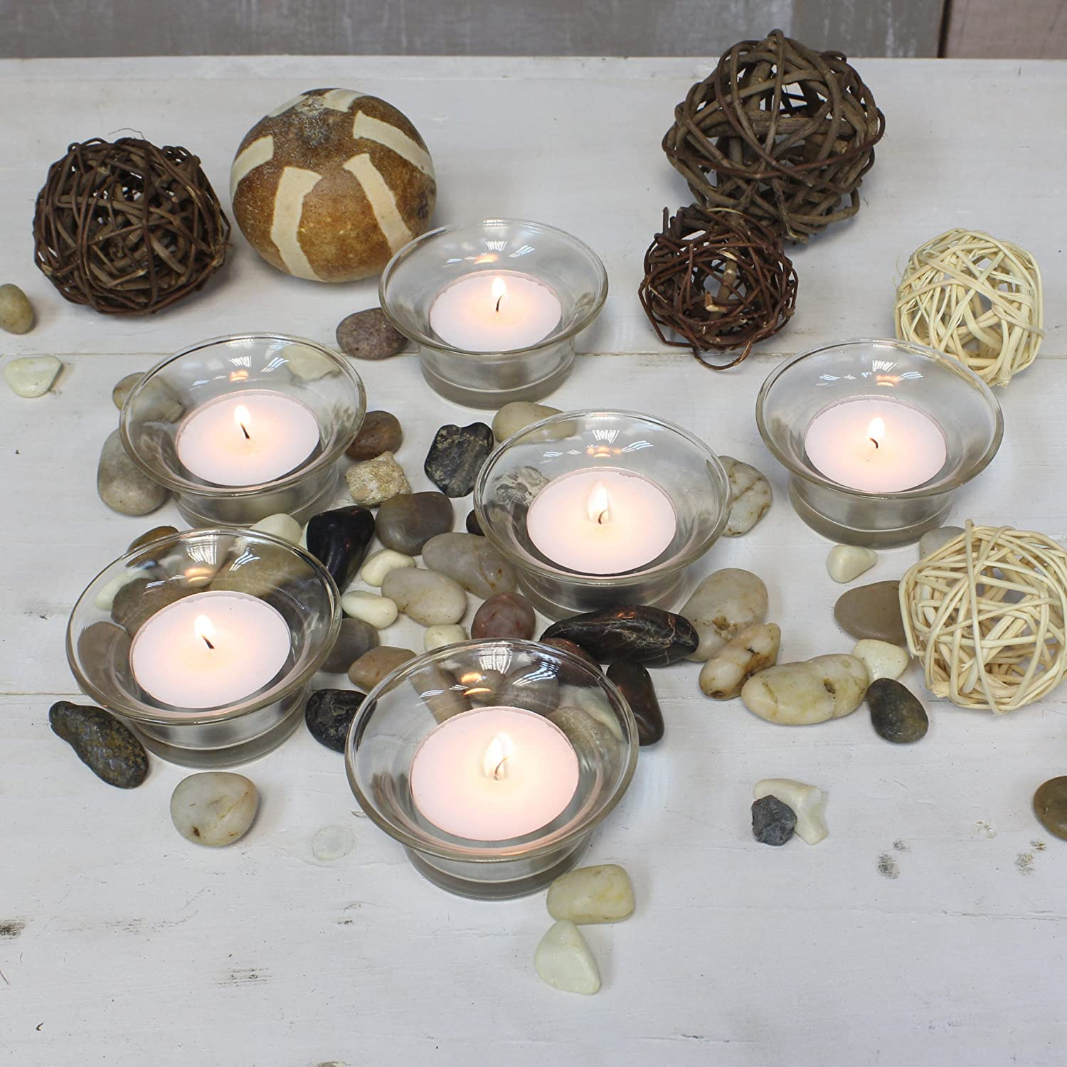 or Any Special Occasion Stonebriar Decorative Clear Glass Tulip Tea Light Candle Holder Set Housearmings 24 Piece Bulk Set Birthdays Elegant Party Decorations for Weddings