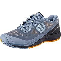 WILSON Men's Rush Pro 3.0 Tennis Shoe Men's Tennis Shoe, Flint Stone/blk/Mandarin, 8.5 US