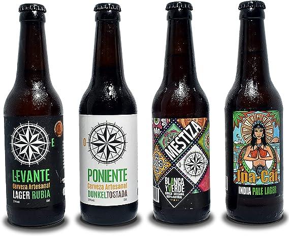 Cerveza artesanal Blanca y Verde. Pack degustación 12 unid. de 33 ...