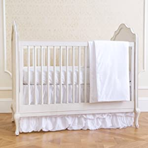 Summer 4-Piece Classic Bedding Set with Adjustable Crib Skirt, Swiss Dot