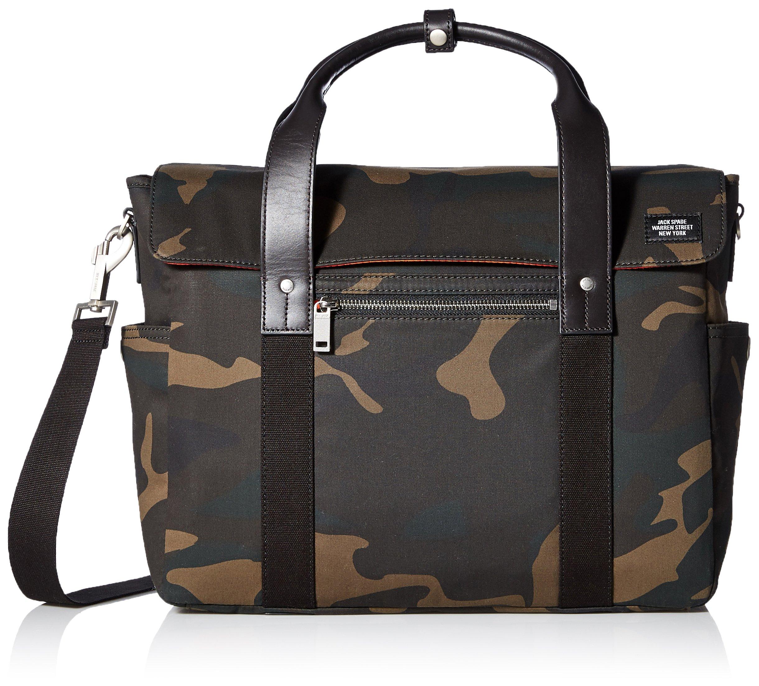 Jack Spade Men's Waxwear Survey Bag, Camo