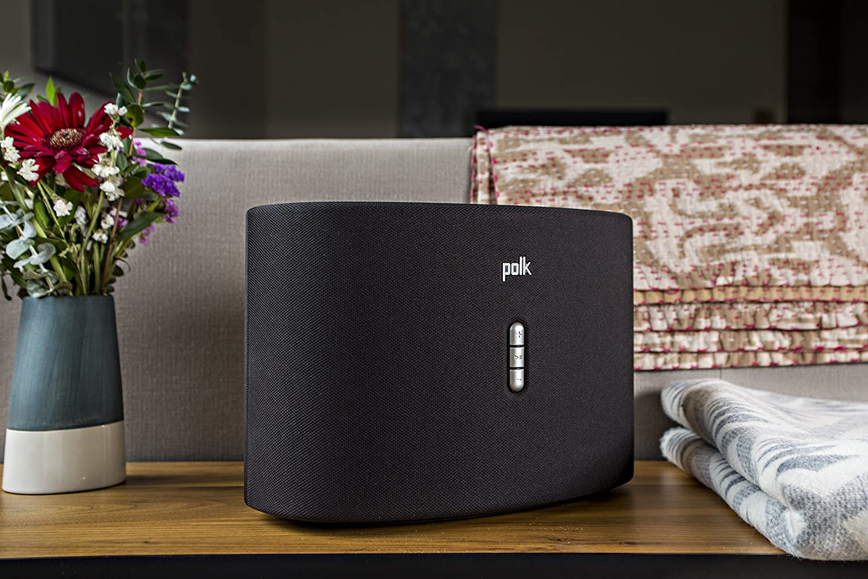 2 Pack Polk Audio Omni S6 Wireless Wi-Fi Music Streaming Speaker with Play-Fi Black