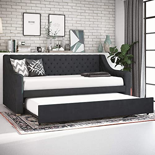 CosmoLiving Nolita Upholstered Daybed and Trundle