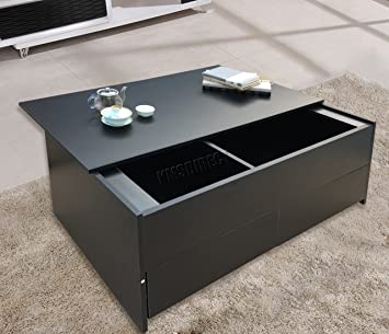 foxhunter multifunctional slide top coffee table trunk with