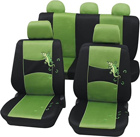 Schwarz-graue Dreiecke Sitzbezüge für TOYOTA RAV4 IV Autositzbezug Komplett