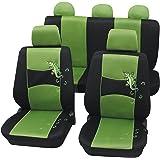 Cartrend 60222 Gecko Mesh - Juego de fundas para asientos de coche (costura de seguridad), color verde