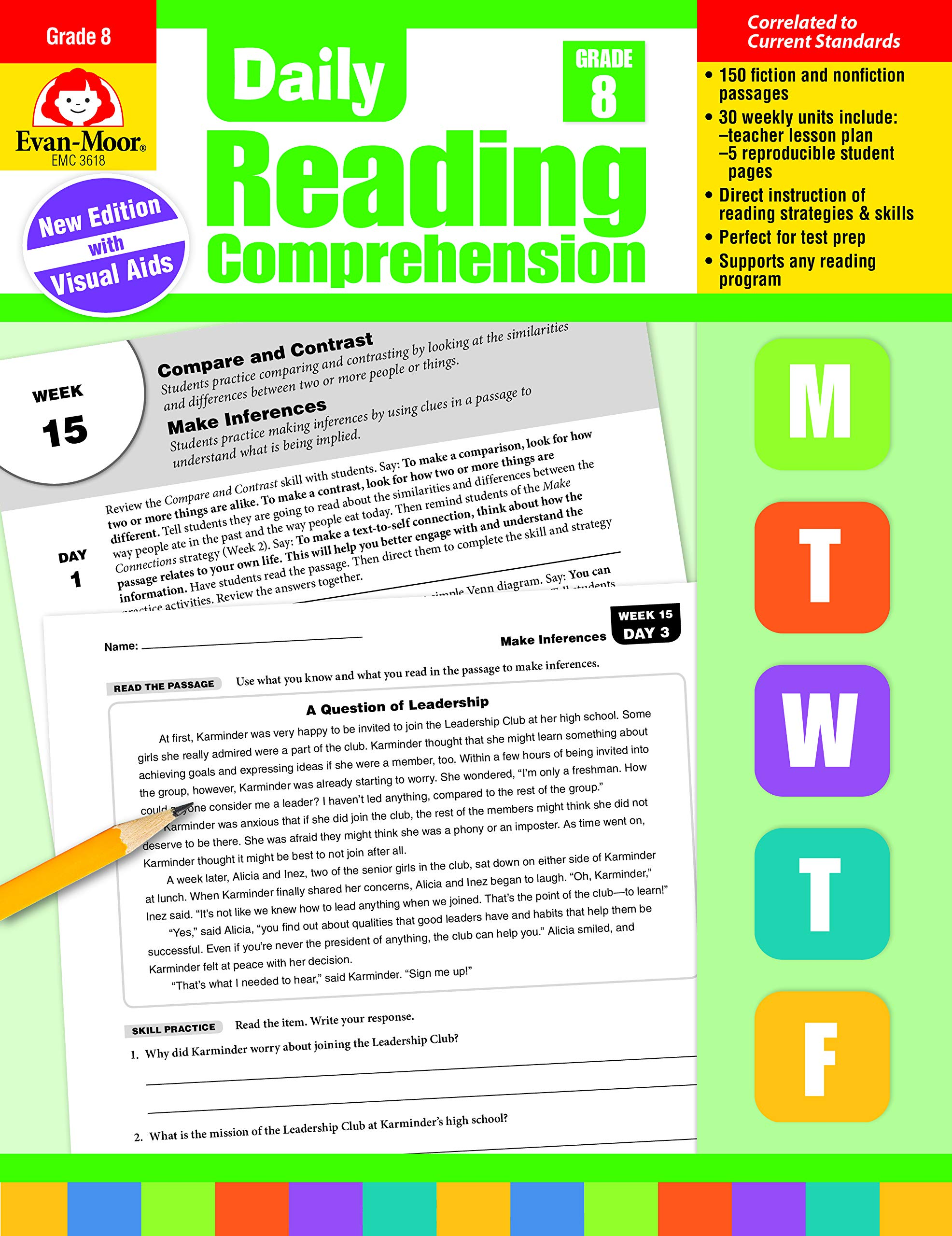 - Amazon.com: Daily Reading Comprehension, Grade 8 (0023472036186