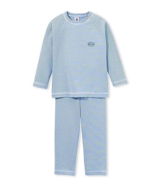 PETIT BATEAU, MANIOC - Pijama De Dos Piezas para Niños, color Azul (Blue