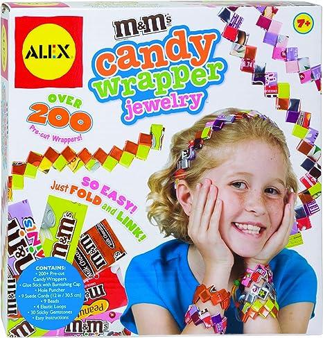 candy wrapper earrings