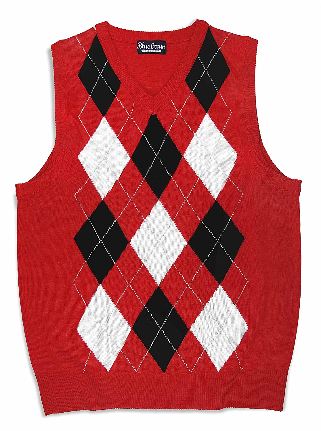 Blue Ocean Kids Argyle Sweater Vest-12-14/Medium SV-255BOYS-Red-12-14/Medium