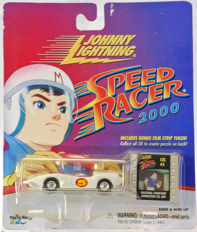 Amazon com johnny lightning speed racer 2000 mach 5 with bonus film strip token toys games