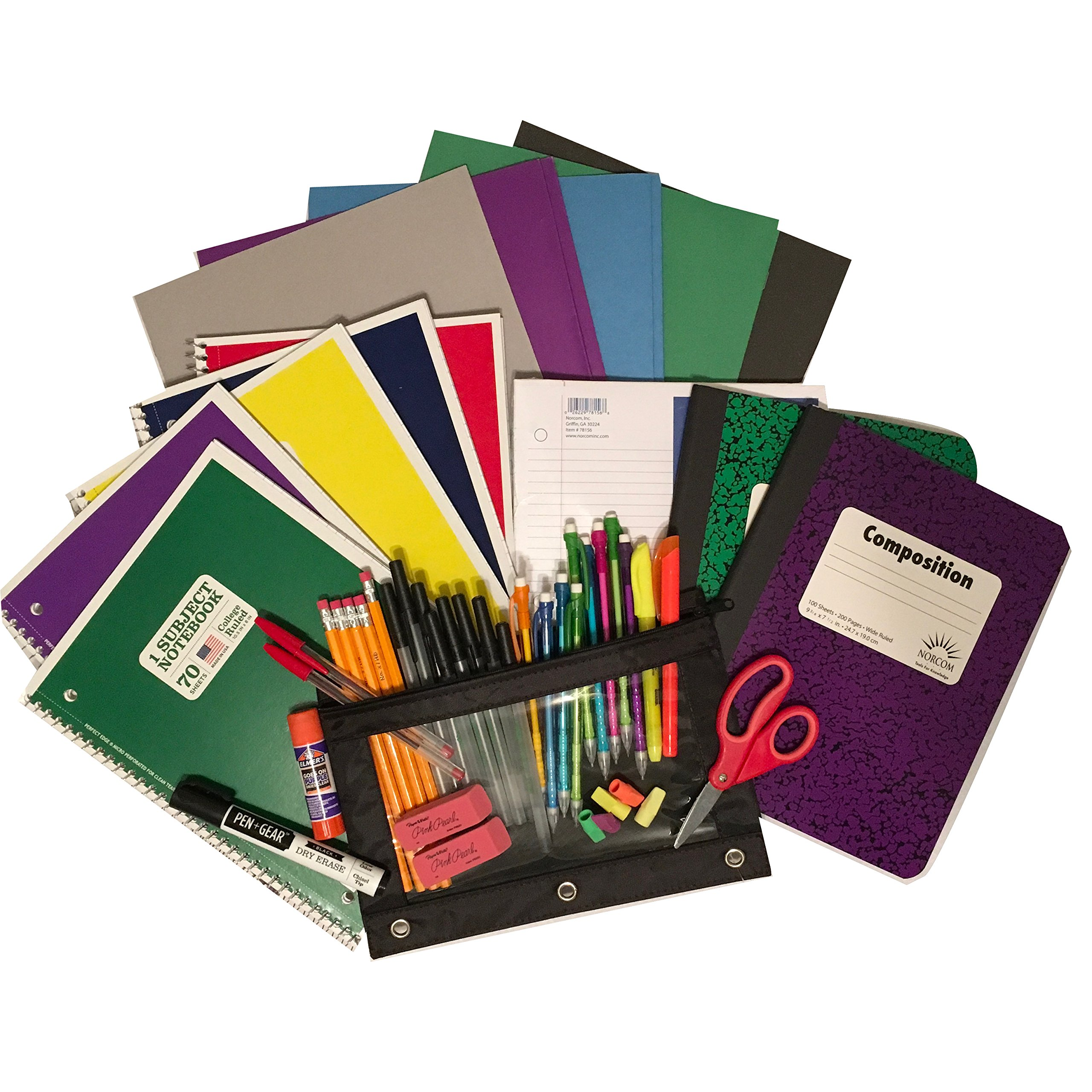 Back to School Kit Perfect Supply Bundle - Office School Supplies (College Rule)