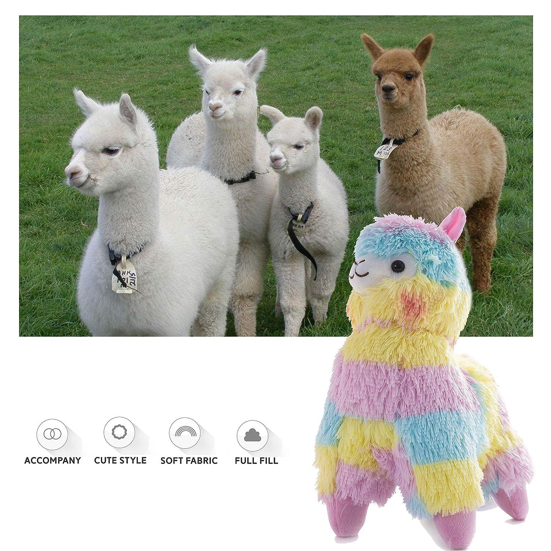 Christmas Other Festivals 13 13/'/' Children on Birthday WEWILL Rainbow Stuffed Llama Animals Cuddly Plush Alpaca Soft Toys Gift for Toddlers Girls
