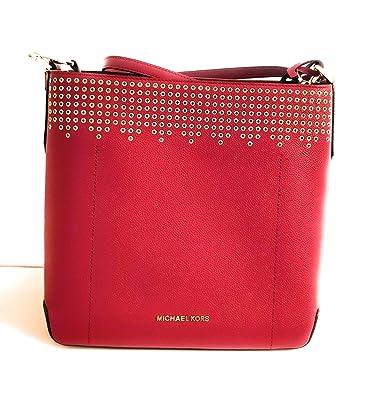 Wählen Sie für späteste zarte Farben große Auswahl Michael Kors Umhängetasche und Schultergurt Leder rote ...