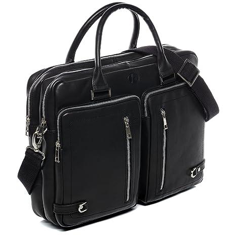 XL Messenger Bag Borsa Tracolla Borsa Borsa Notebook Scuola Lavoro Uni Nero Abbigliamento e accessori