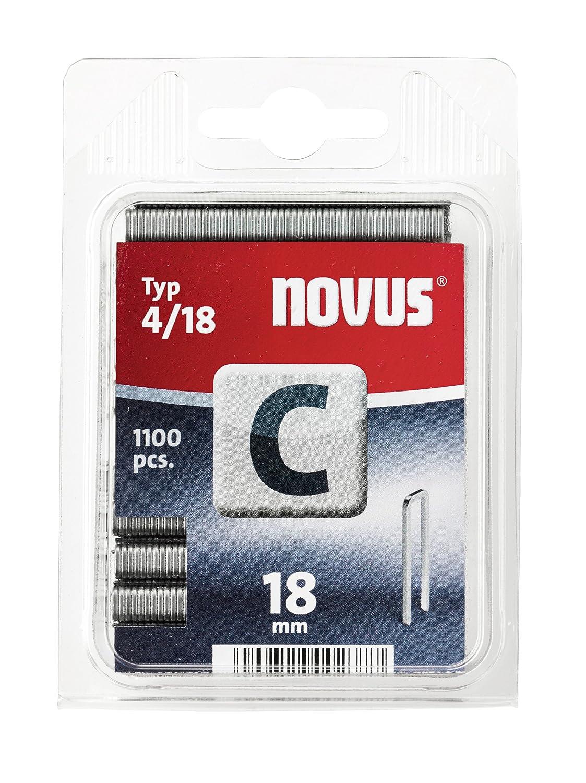 Agrafes à dos fin Novus C4/18 2000Pces-Agrafes, clous 042-0391