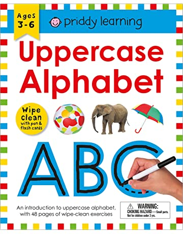 Wipe Clean Workbook: Uppercase Alphabet (Priddy Learning)
