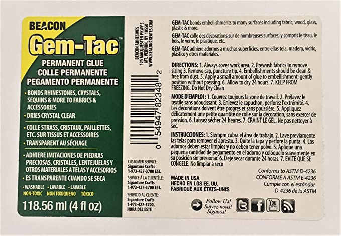 6e2c99bef9eb19 Amazon.com  Beacon Gem-Tac Permanent Adhesive