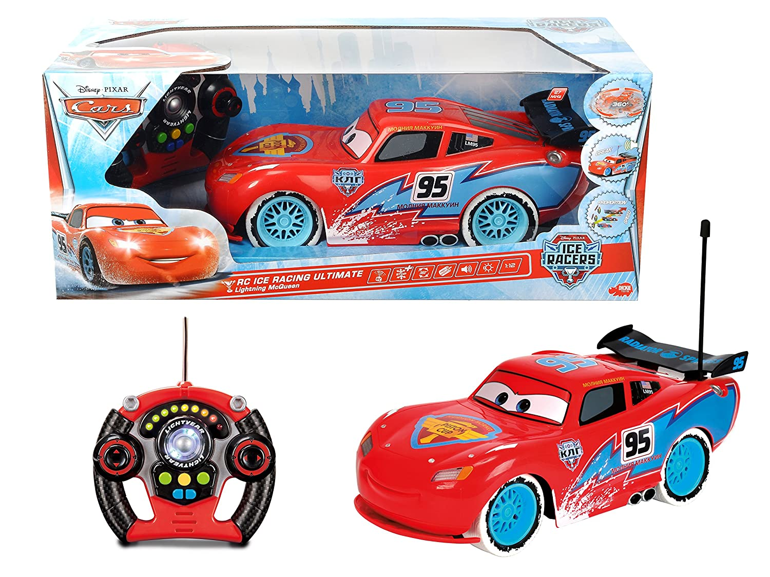 Dickie Spielzeug 203089594 - - - Disney Cars Ice Racing RC Ultimate Lightning McQueen 1 12 13d064