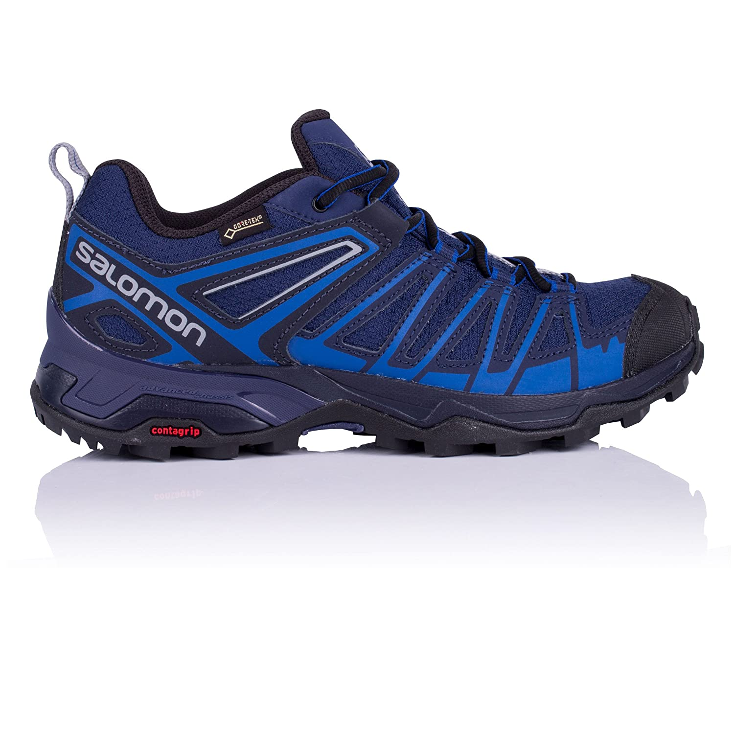 Salomon X Ultra 3 Prime GTX, Zapatillas de Senderismo para Hombre 43 1/3 EU|Azul (Medieval Blue/Nautical Blue/Alloy 000)